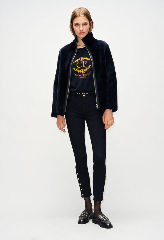 FRENCHH19 : Coats & Jackets color NAVY