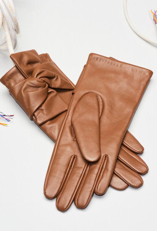 AMELIAH19 : Bonnets et gants couleur OURSON