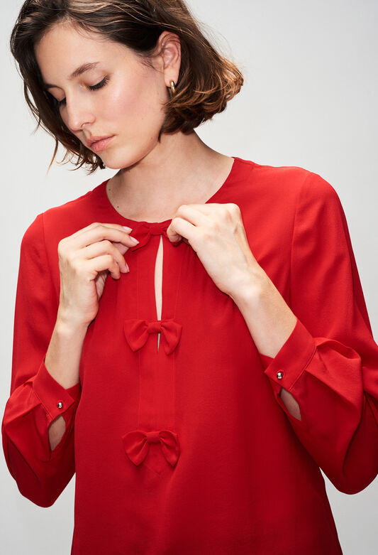 BALADINEH19 : Tops & Shirts color COQUELICOT