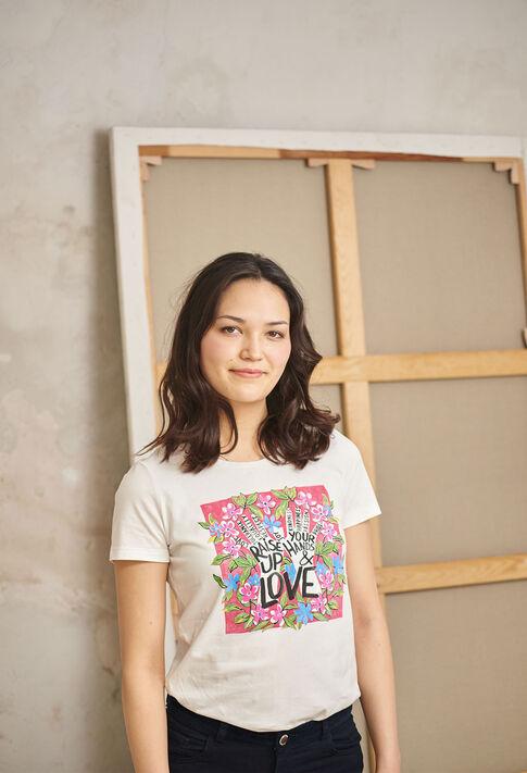 TOBELIEVE : T-shirts color Ecru