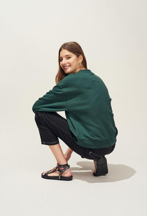 TREKKING : Maille & Sweatshirts couleur VERT IMPERIAL
