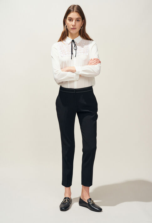 POUSSINA : Jeans & Pants color Black