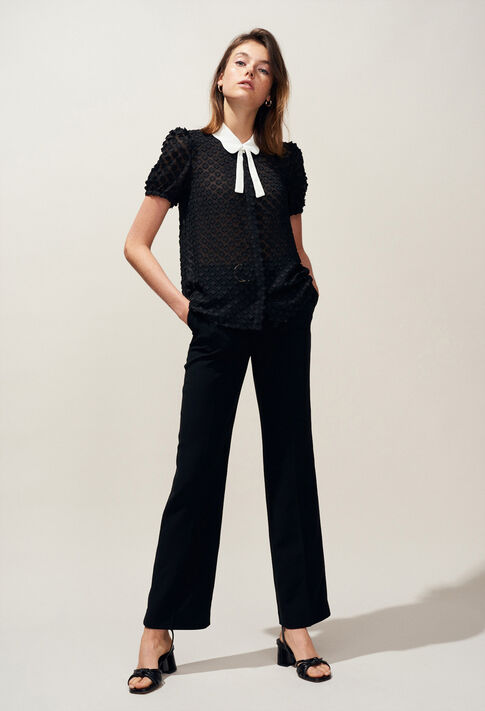 PHYBIE : Pantalons et Jeans couleur Noir