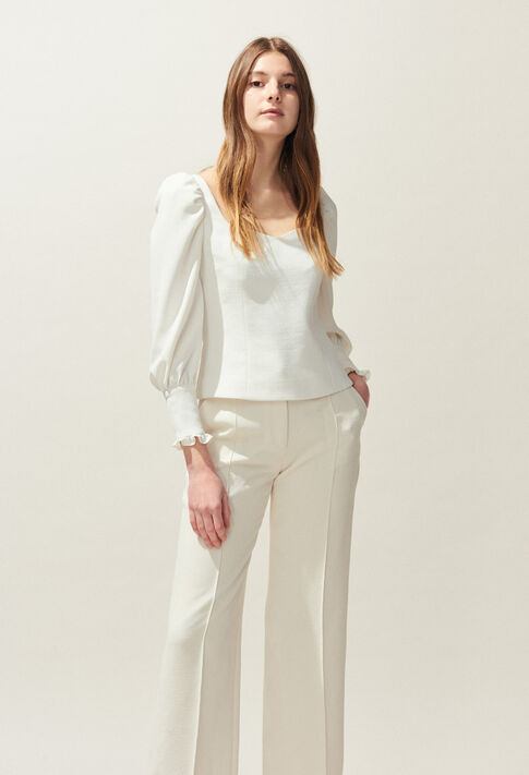 BRAVO : Tops & chemises couleur Ecru