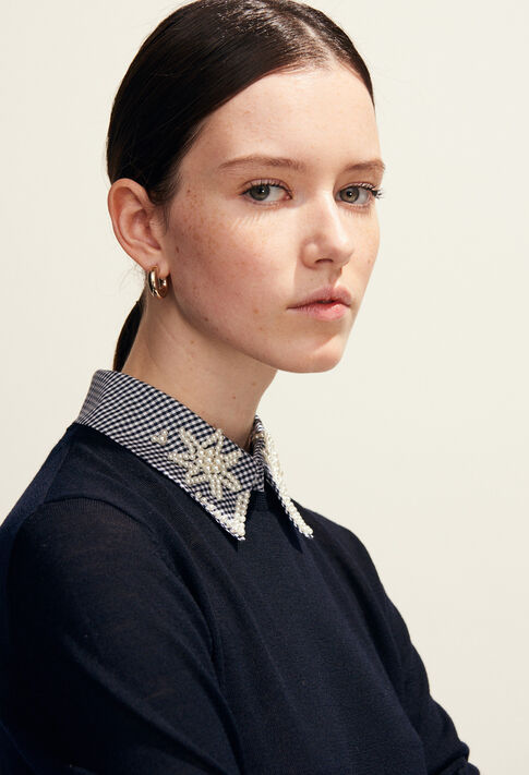 MIRACLE : Knitwear & Sweatshirts color Navy