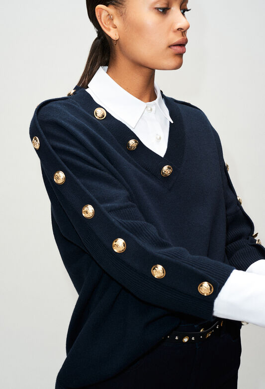 MANCEAUH19 : Knitwear & Cardigans color NAVY