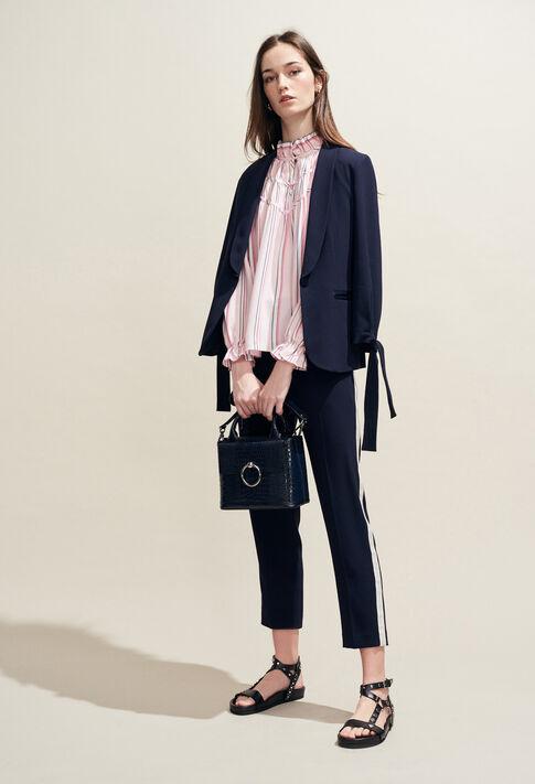 ANOUCKSMALLREPTILECROCOH19 : Bags & Leather Goods color NAVY