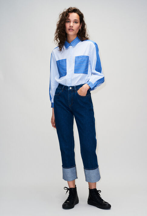 POPH19 : Jeans & Pants color DENIM