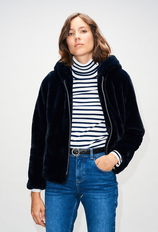FELICIENH19 : Coats & Jackets color NAVY