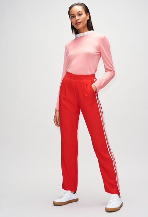 PAMPILLEH19 : Jeans & Pants color ROUGE