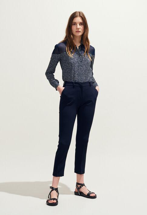 POUSSIN : Pantalons et Jeans couleur Marine