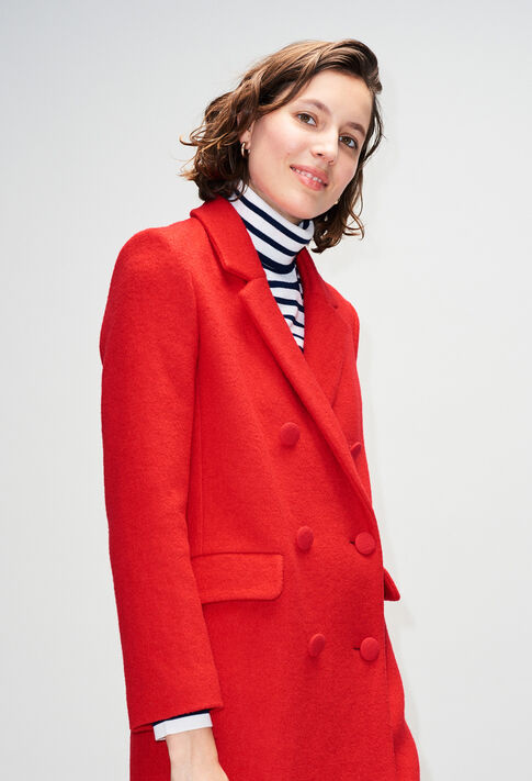 GERTRUDEH19 : Coats & Jackets color COQUELICOT