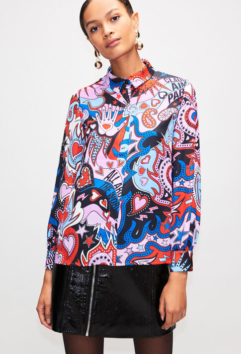 CHIMEREBISH19 : Tops & Shirts color PRINT FONCE