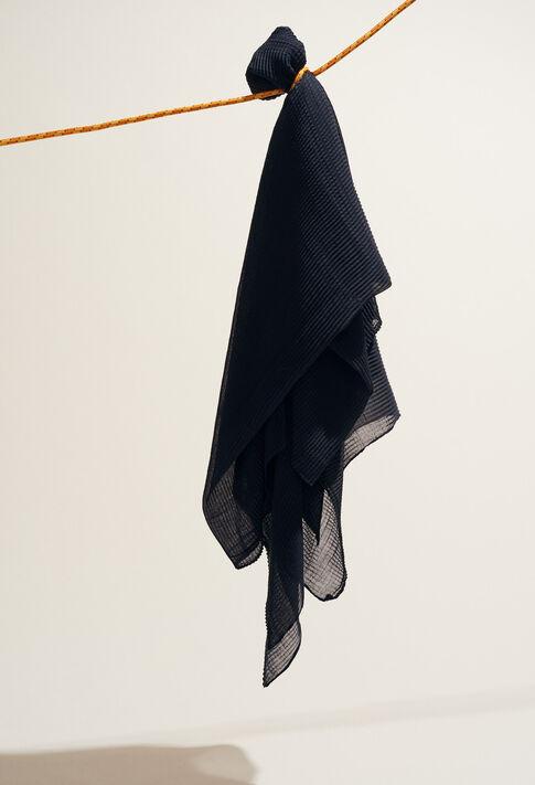 AERIEN : Scarves color Marine