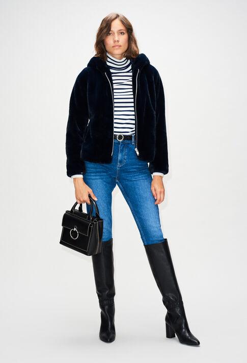 FELICIENH19 : Coats & Jackets color NAVY