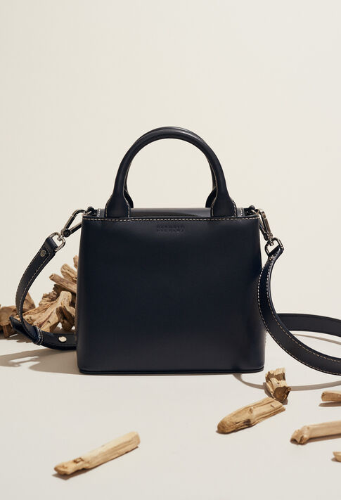 ANOUCK SMALL SADDLE STITCH : Bags & Leather Goods color MARINE