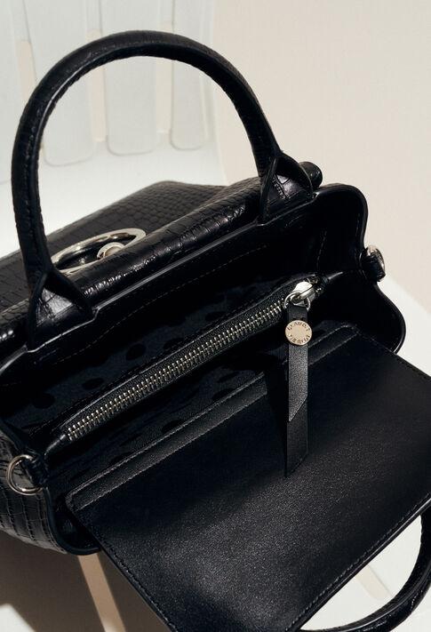 ANOUCK SMALL REPTILE CROCO : Outlet couleur Noir