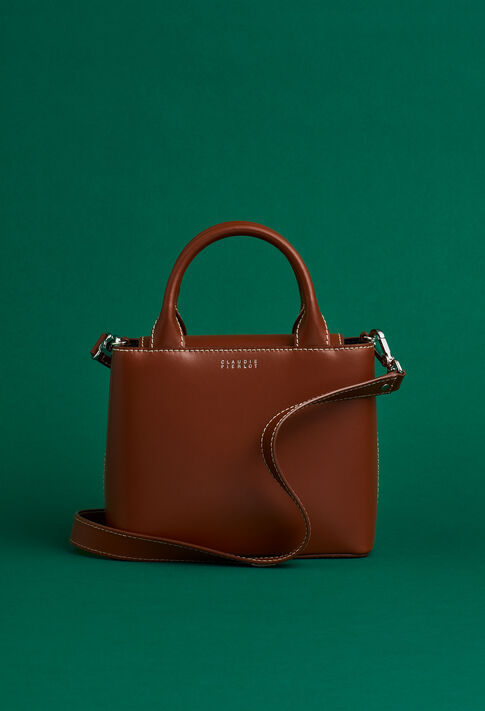 ANOUCK SMALL SADDLE STITCH : Outlet couleur New Caramel