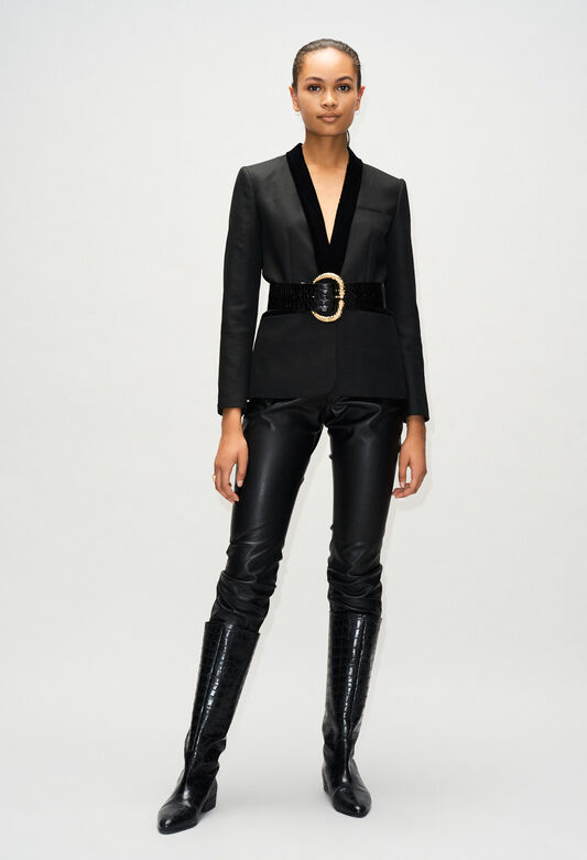 VOLUPTEH19 : Blazers color BLACK