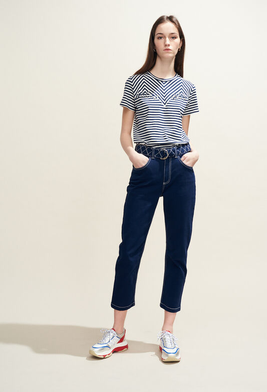 PISTOU BIS : Jeans & Pants color Ultramarine
