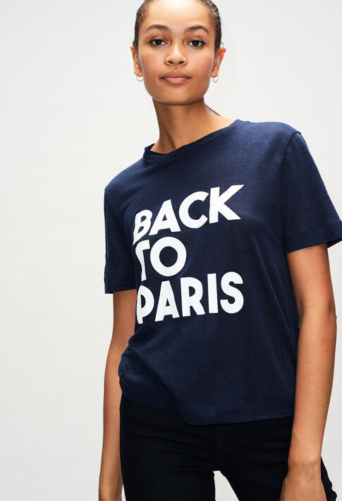 TEARSH19 : T-Shirts couleur MARINE