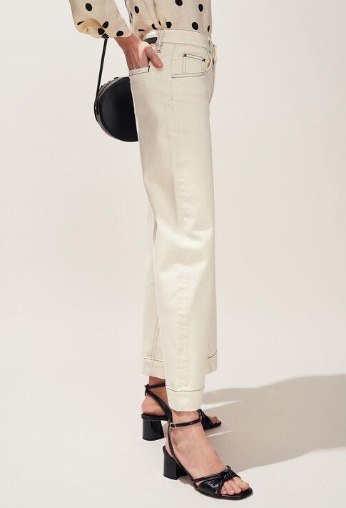 PANACOTTA : Jeans & Pants color Ivoire