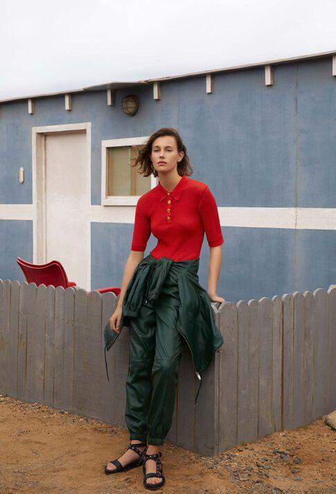 MALUNE : Mailles & Sweatshirts couleur Ecarlate