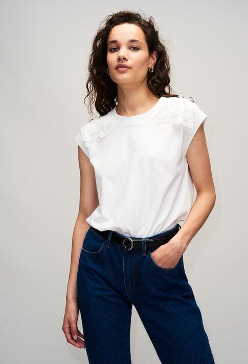 TISHAH19 : T-Shirts couleur ECRU