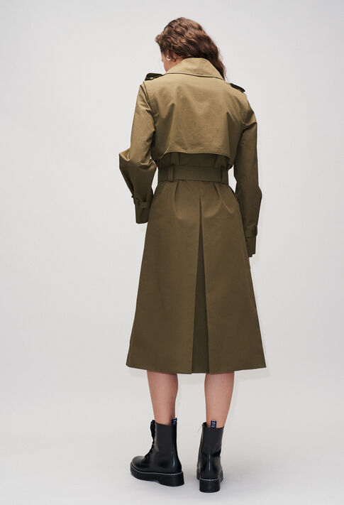 GHITAH19 : Coats & Jackets color KHAKI