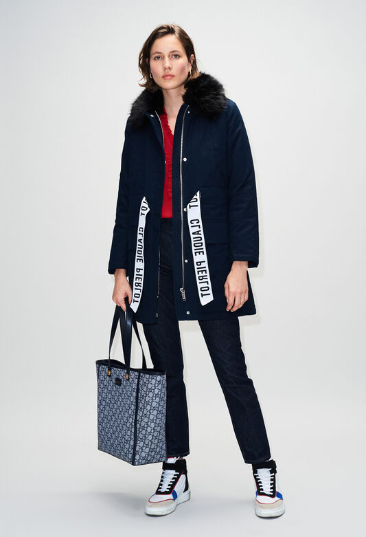GINEVRAH19 : Coats & Jackets color NAVY