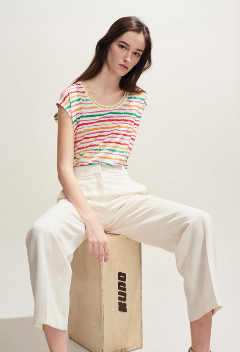 TAHITIENNE : T-shirts color MULTICO