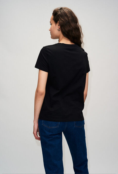 TESSIEH19 : T-shirts color BLACK