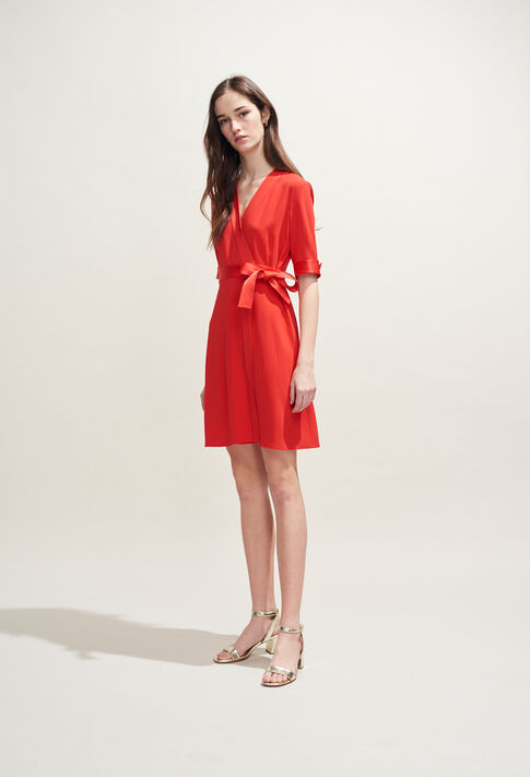 ROSILEA : Dresses color Ecarlate