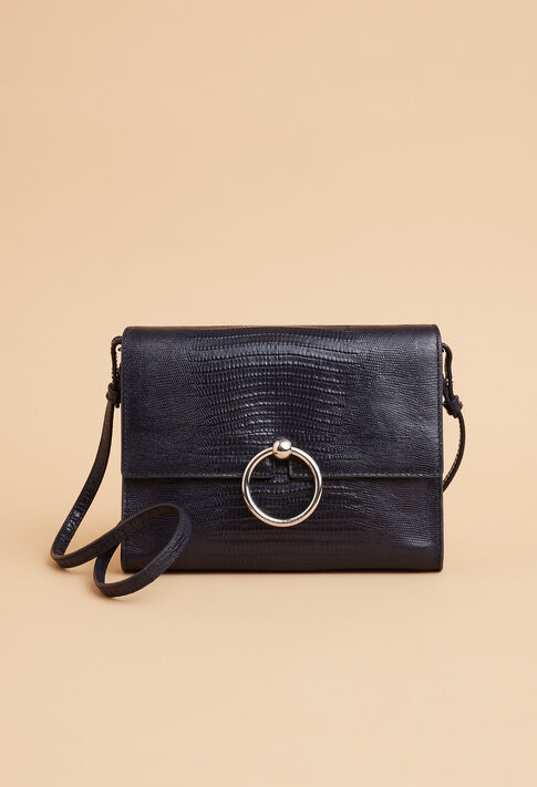 ANOUCK POUCH REPTILE LEZARD : Outlet color Navy