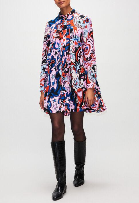 RAMSESH19 : Robes couleur PRINT FONCE