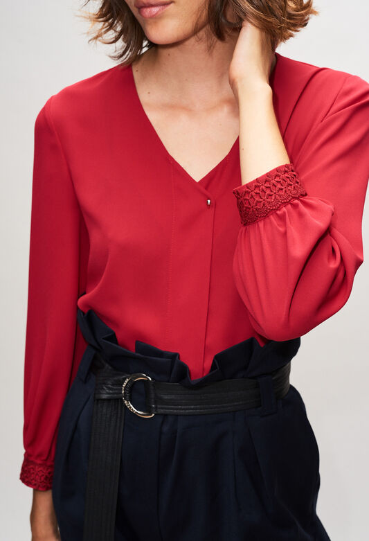 BOCOBISH19 : Tops & Shirts color CERISE