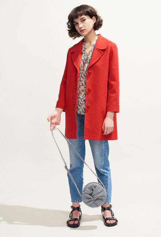 GLENN : Coats & Jackets color ECARLATE