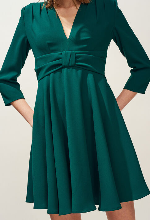 RAINA : Dresses color VERT IMPERIAL