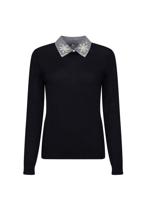 MIRACLE : Knitwear & Cardigans color Navy