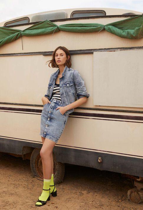 VANNA : Manteaux et Blousons couleur Jean