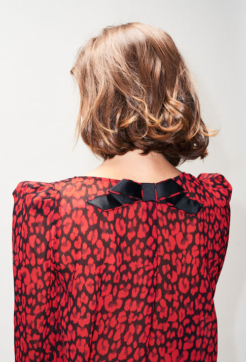 BANCLEOPARDH19 : Tops & Shirts color CERISE
