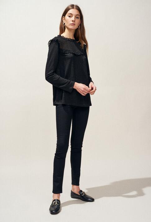 TACTILL : T-Shirts couleur Noir
