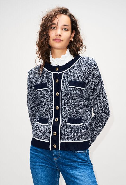 MARCYAH19 : Maille & Sweatshirts couleur MARINE