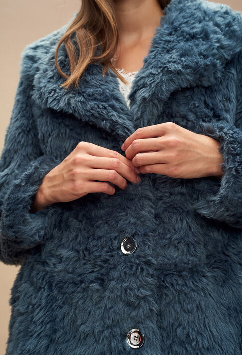 FAUSTINE : Les Vestes & Manteaux couleur Bleu