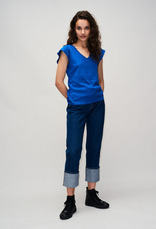 TRESSEH19 : T-shirts color BLEU ROI