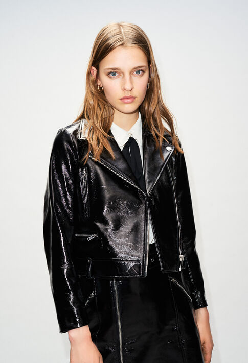 CARLYH19 : Coats & Jackets color BLACK