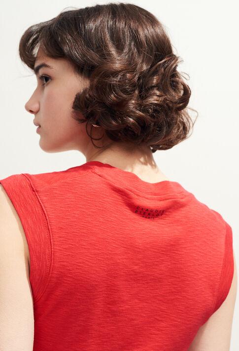 THELMA : T-shirts couleur Ecarlate