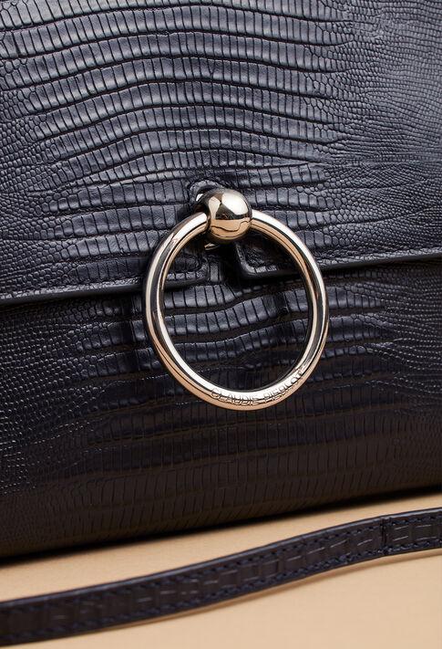 ANOUCK POUCH REPTILE LEZARD : Les Chaussures & Accessoires couleur Navy