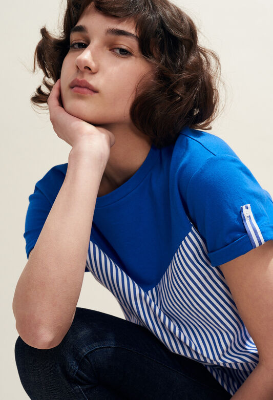 TATUM : T-shirts color Indigo