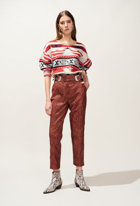 CRANBERRY : Pants, Skirts & Shorts color Python